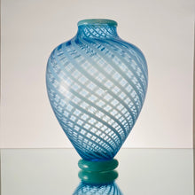 Load image into Gallery viewer, ThrÍga-Aquamarine Cane-Handblown Glass