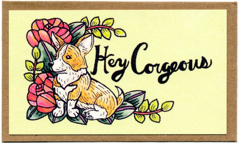 Hey Corgeous Mini Card