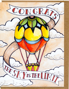 Congrats, The Sky Is The Limit Card
