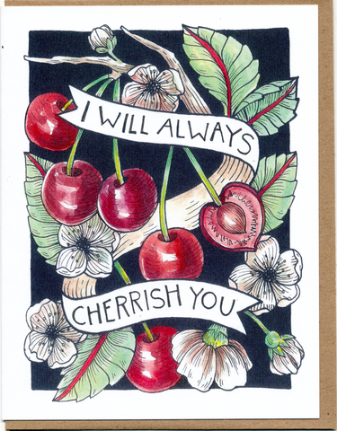 I Will Always Cherrish You Card