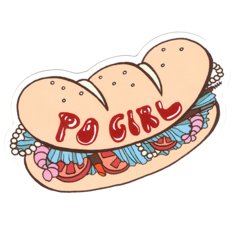 Po Girl Sticker