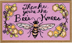 Thanks, You're The Bees Knees Mini Card