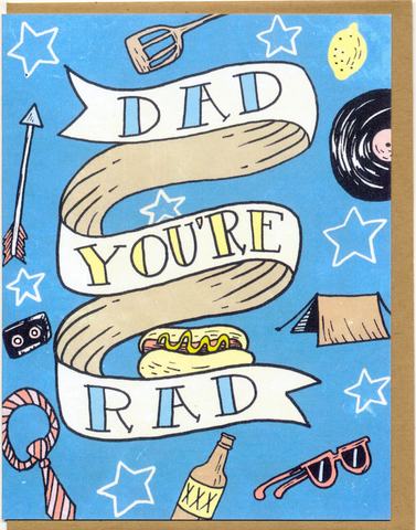 Dad You're Rad Card