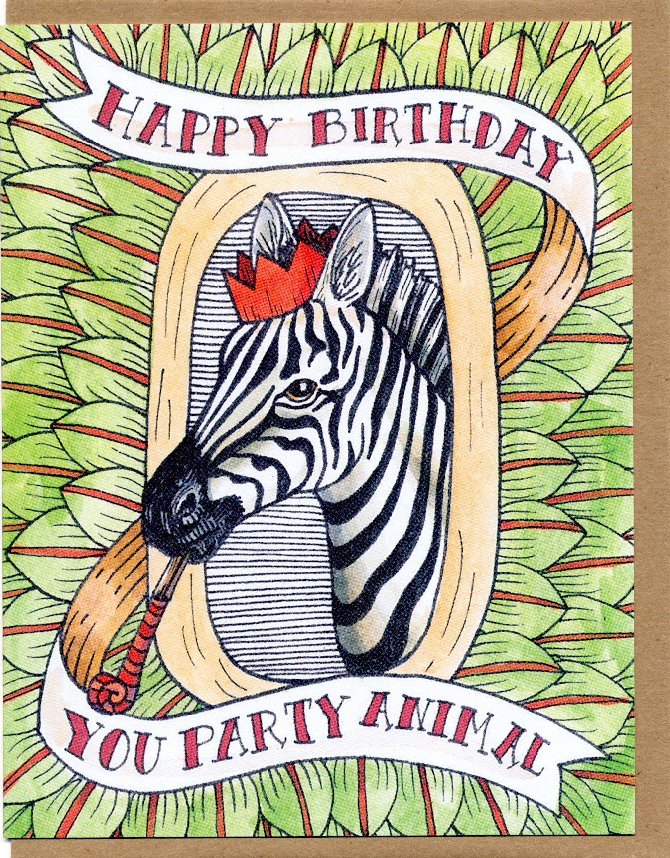 Happy Birthday You Party Animal Card