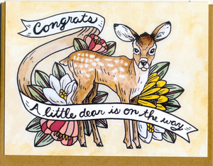 Congrats, A Little Dear Is On The Way Card