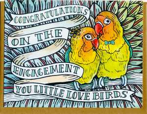 Congratulations on the Engagement You Little Love Birds Card