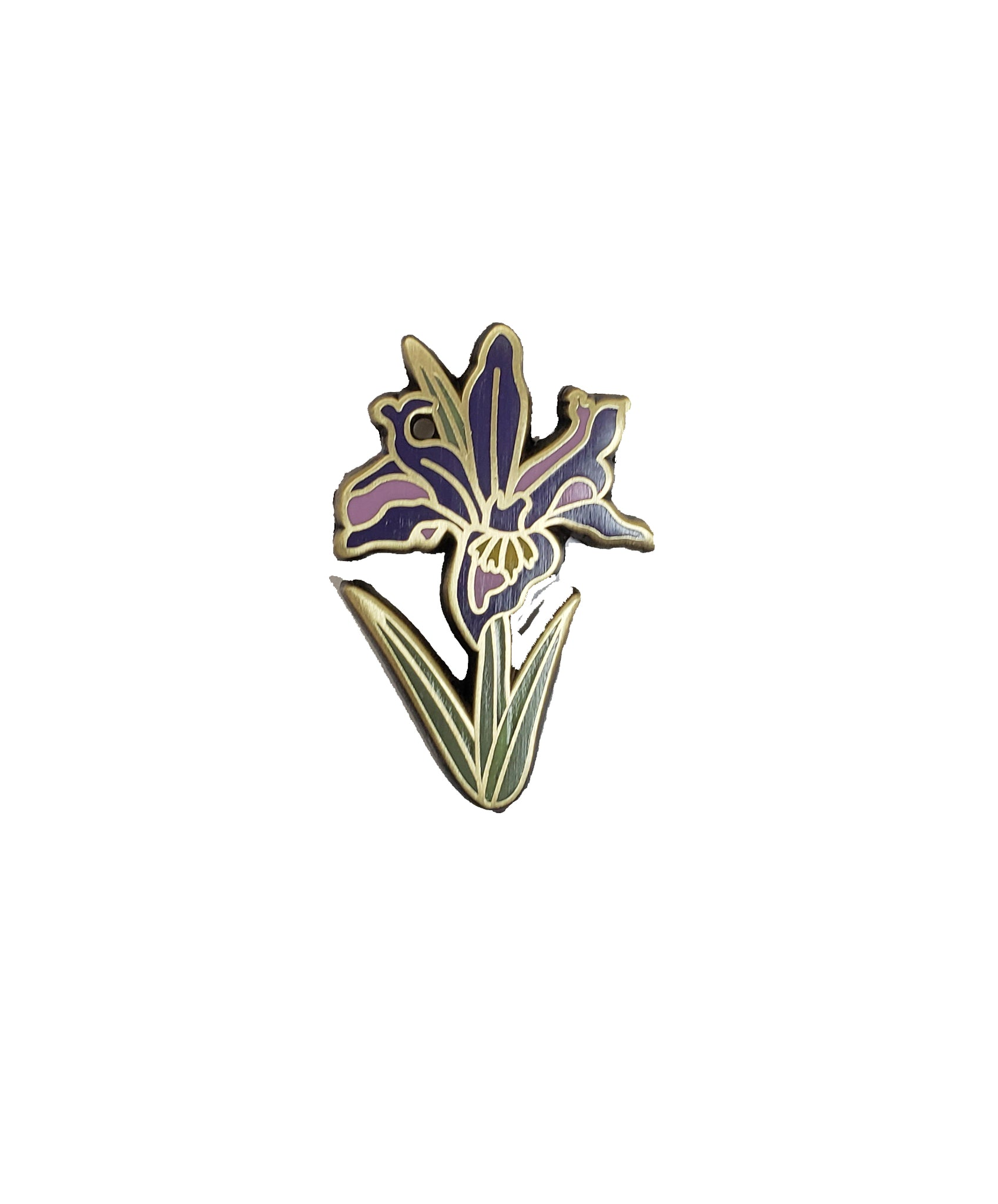 Louisiana Iris Enamel Pin