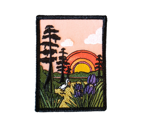 Louisiana Swamp Scene Iron-on Patch
