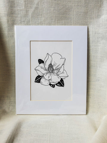 Original Pen & Ink Dainty Magnolia