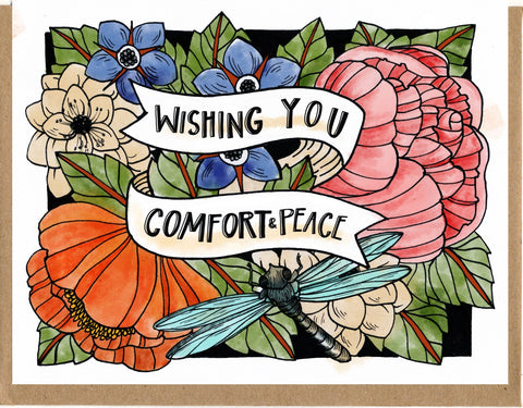 Wishing You Comfort and Peace Card