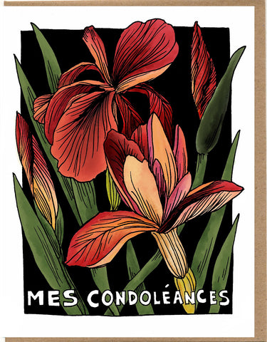 Mes Condoléances Card