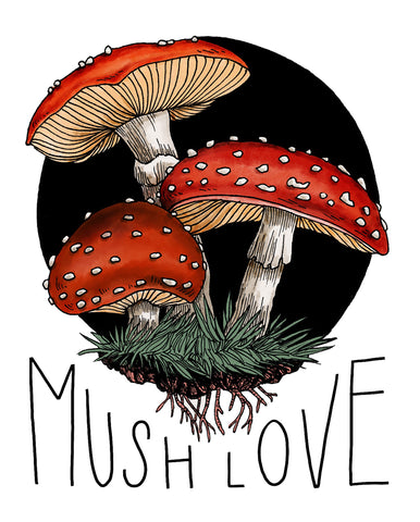 Mush Love Art Print
