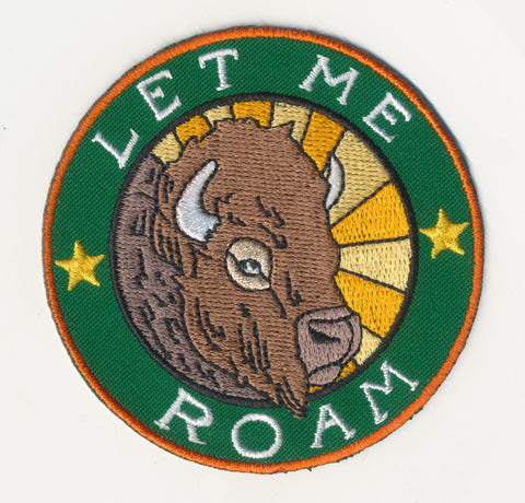 Let Me Roam Iron-on Patch