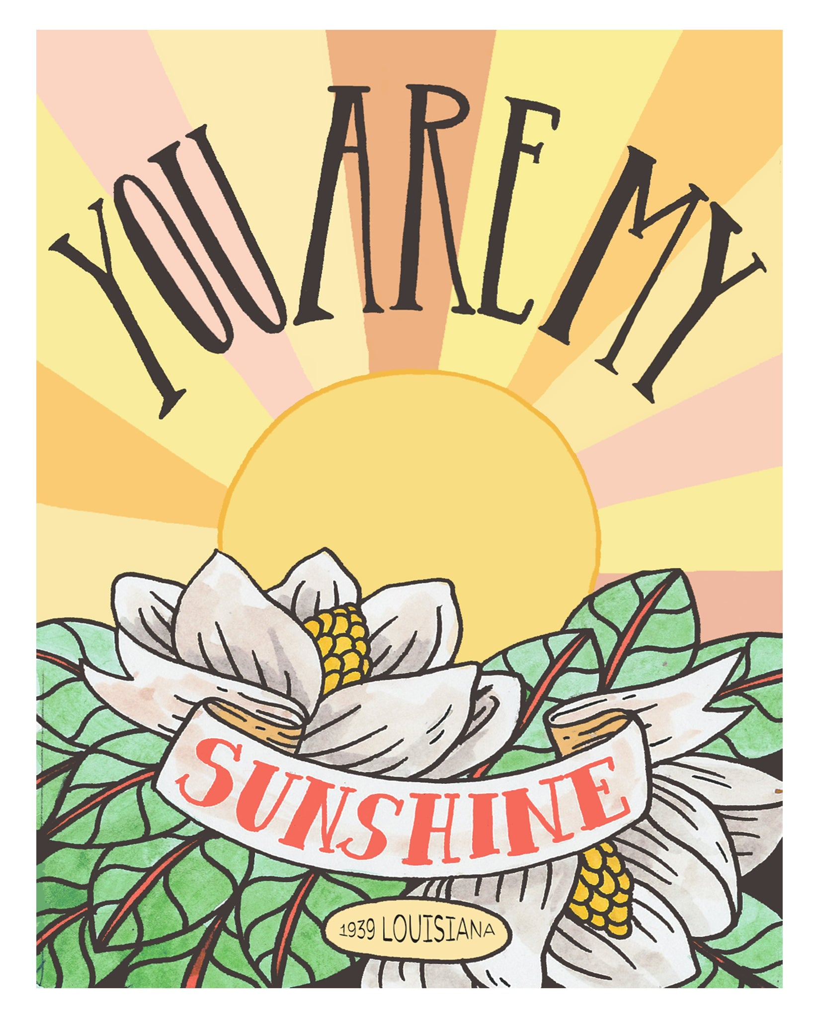 You Are My Sunshine 8x10 Art Print