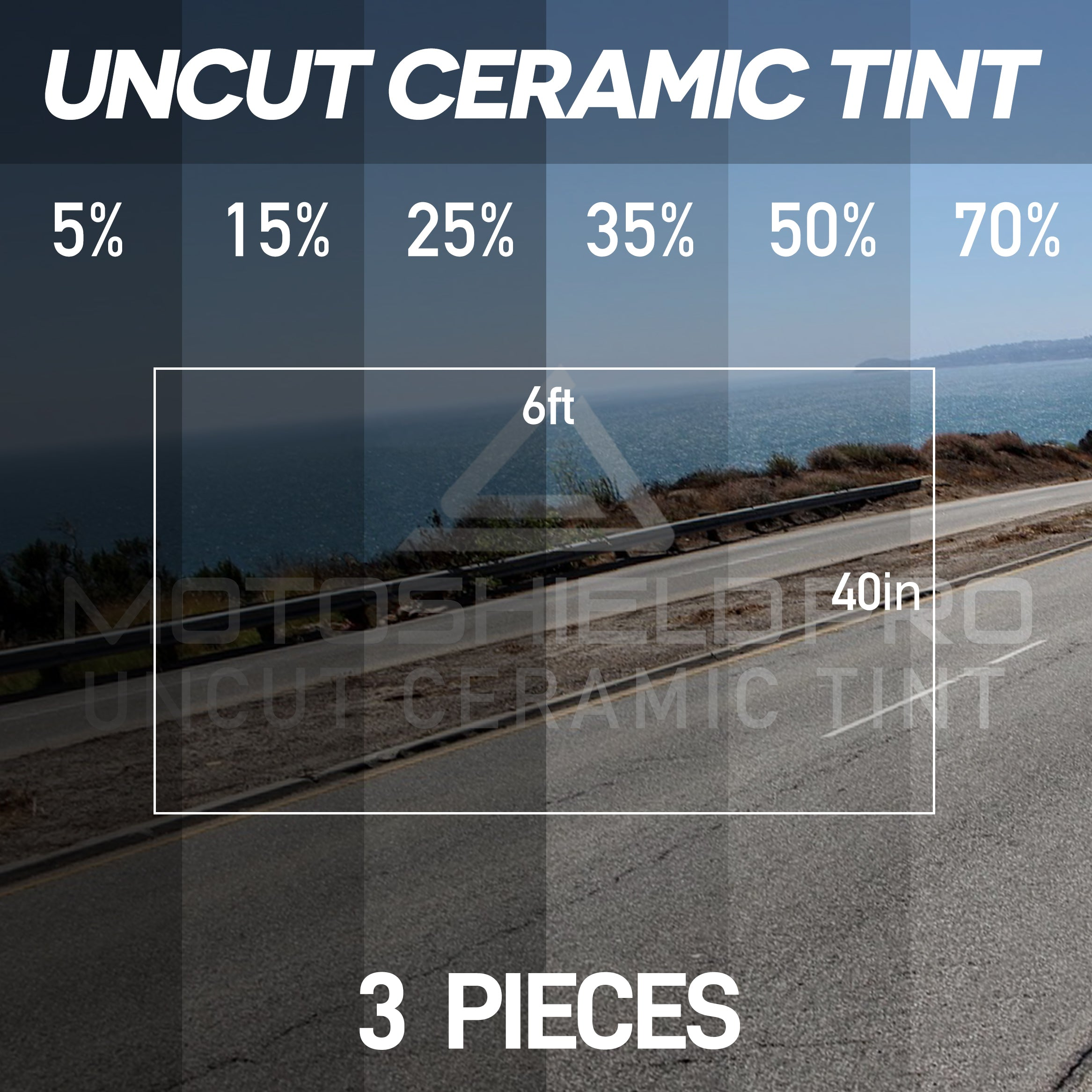 UNCUT TINT (3 PACK) 40in x 6ft