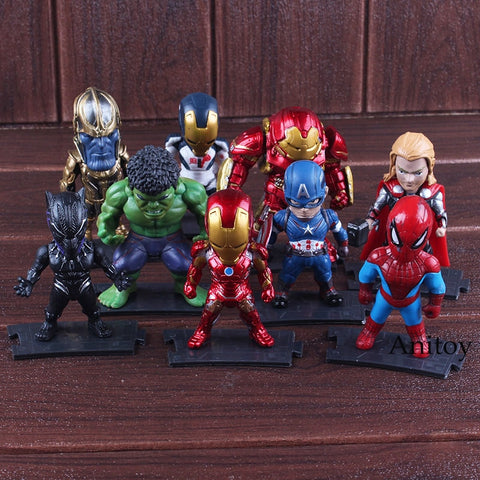 76dd247aae4 The Avengers Super Hero Thanos Hulkbuster Iron Man Spiderman Hulk Thor  Black Panther Captain America Action