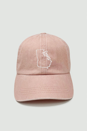 LCAP1154 - Home state map embroidery baseball caps