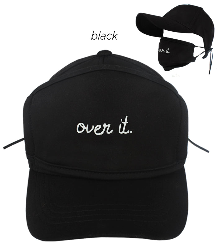 "ACAPMSK102 - ""Over It"" Antibacterial Coated Cap and Mask"