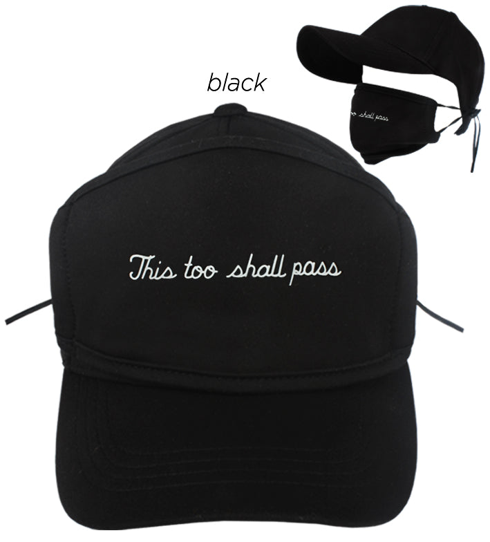 "ACAPMSK104 - ""This Too Shall Pass"" Antibacterial Coated Cap and Mask"