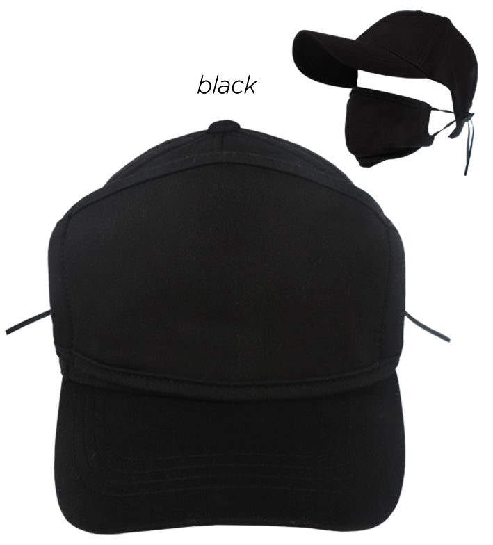 ACAPMSK10 - Unisex Antibacterial Coated Cap with Plain Mask