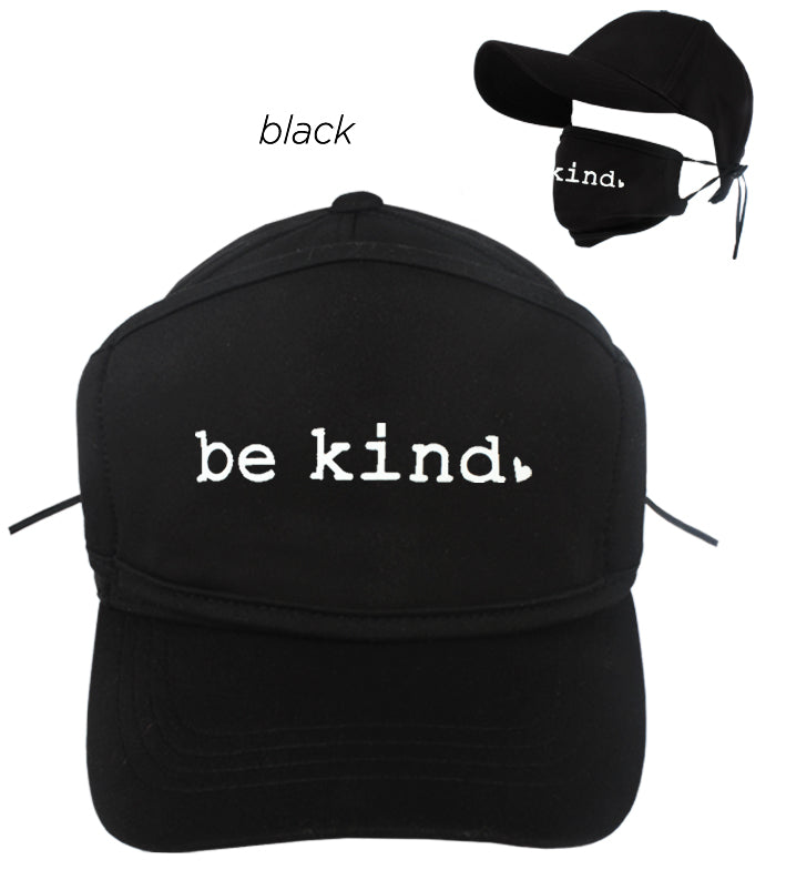 "ACAPMSK11 - ""Be Kind"" Antibacterial Coated Cap and Mask"