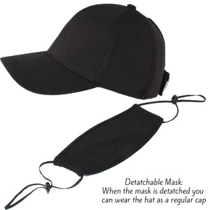 ACAPTMSK202 - Plain Antibacterial Coated PONYTAIL Cap and Mask