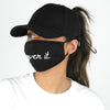 "ACAPTMSK203 - ""Over It"" Antibacterial Coated Ponytail Cap and Mask"