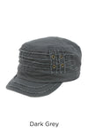 ACD2007 - Solid Distressed Cadet with Elasta Fit - David and Young Fashion Accessories