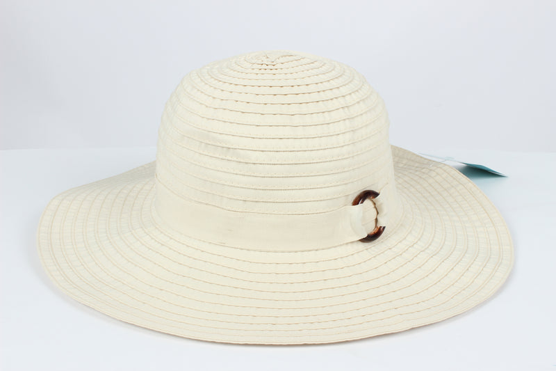 AFP9544 - Ribbon Hat with Buckle Trim - David and Young Fashion Accessories