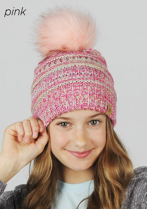 AJRBB1012 - Kids Space dye Slinky Beanie - David and Young Fashion Accessories