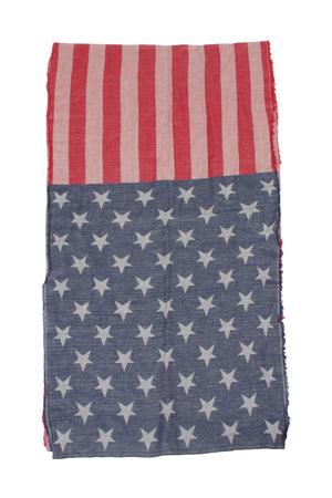 APSF93718 - Yarn Dye America Flag 19 x 84 - David and Young Fashion Accessories