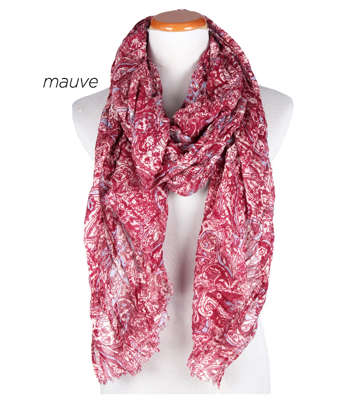 "ASF8006 - Paisley Print Scarf 35""x80"" - David and Young Fashion Accessories"