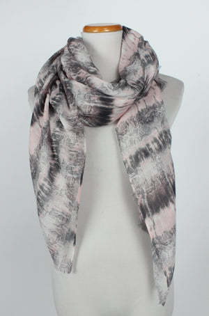 ASF8009 - Snake Animal Print Tie Dye Scarf 35 x 70 - David and Young Fashion Accessories