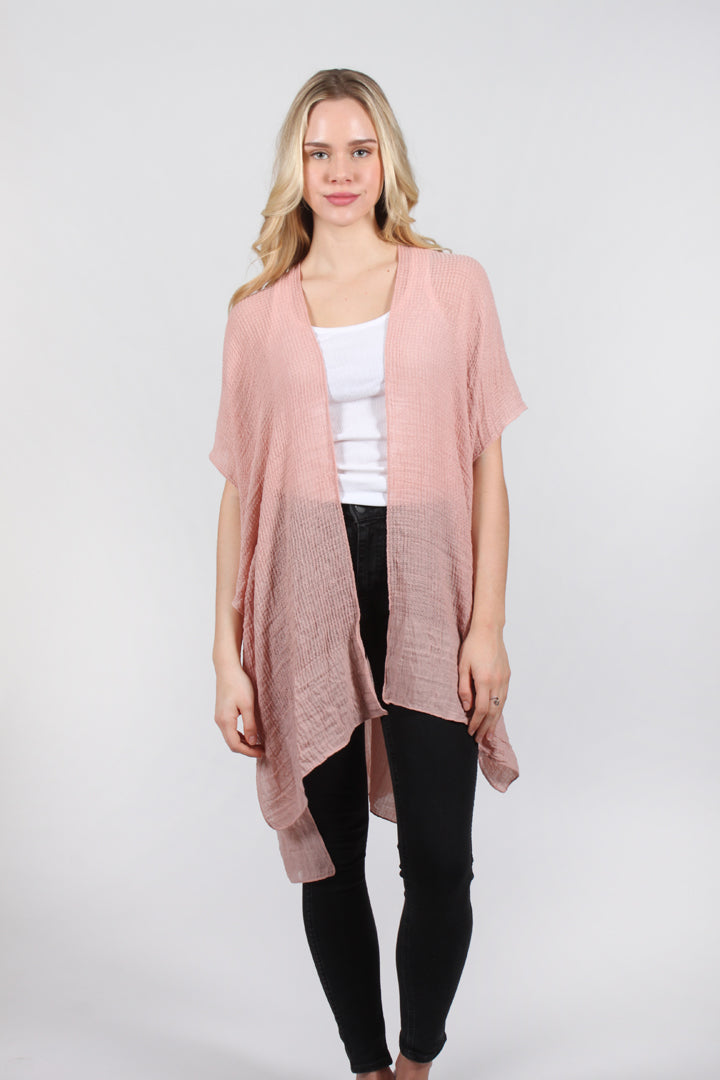 "ATO9067 - Lightweight Solid Textured Shawl  31"" X 64"" - David and Young Fashion Accessories"