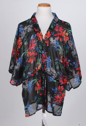 ATO9453 - Floral Print Shawl - David and Young Fashion Accessories