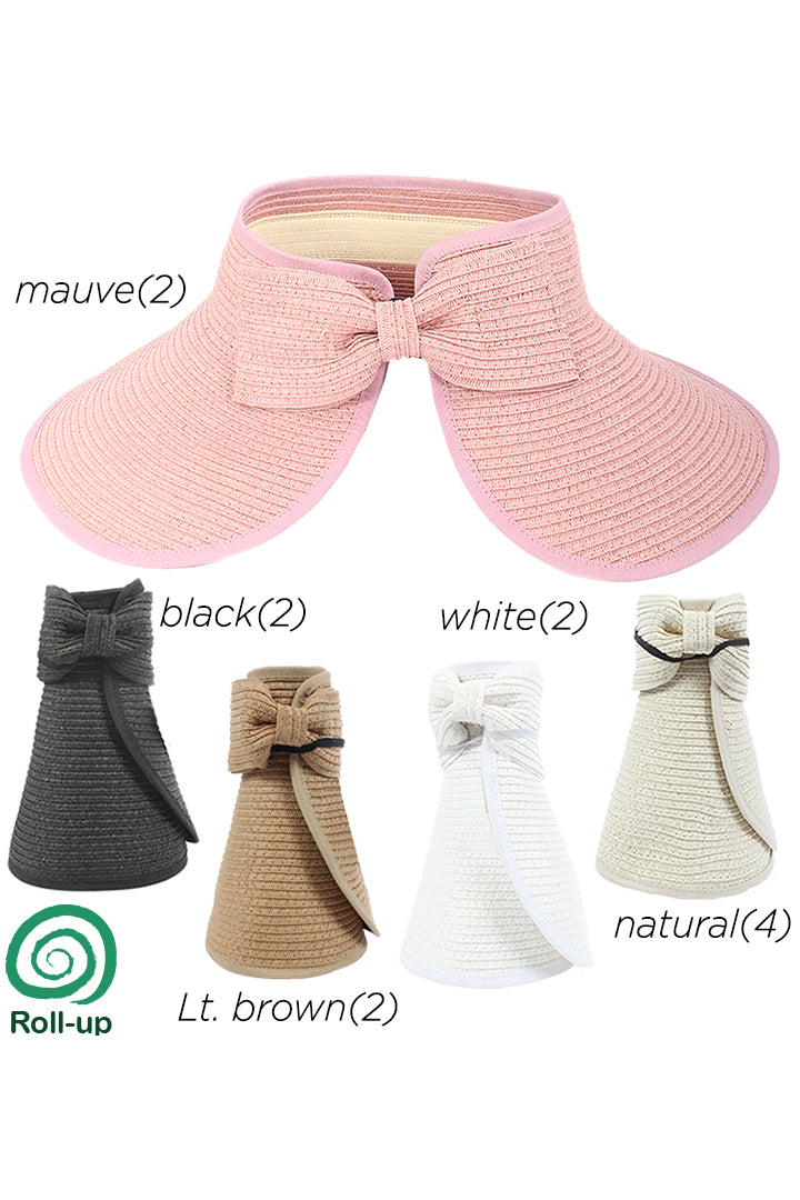 AVS8460 - Solid paper Braid with Bow (Sold by 12pcs assorted pack) - David and Young Fashion Accessories
