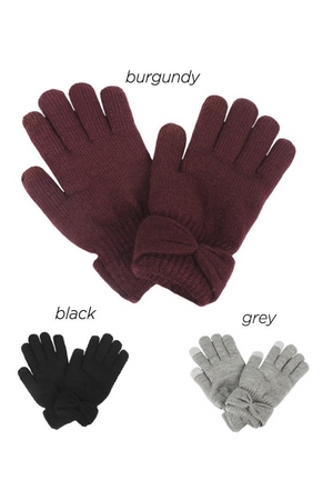 PTGL12121 - Cozy Glove with Bow