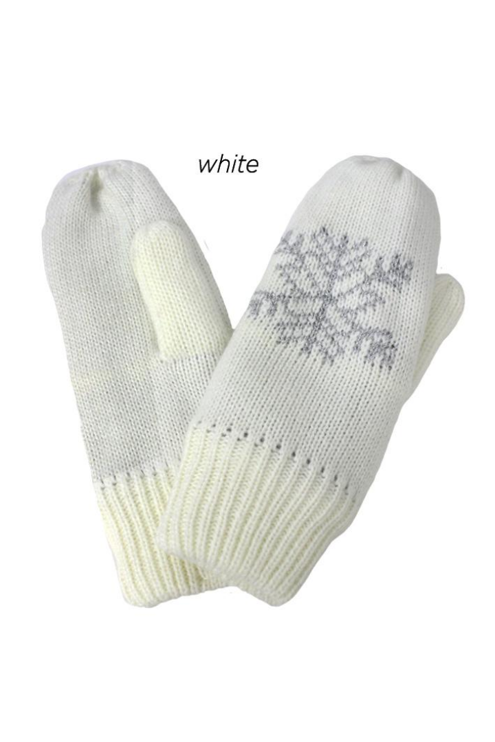 FSMT75268 - Snowflake knit mitten with lining
