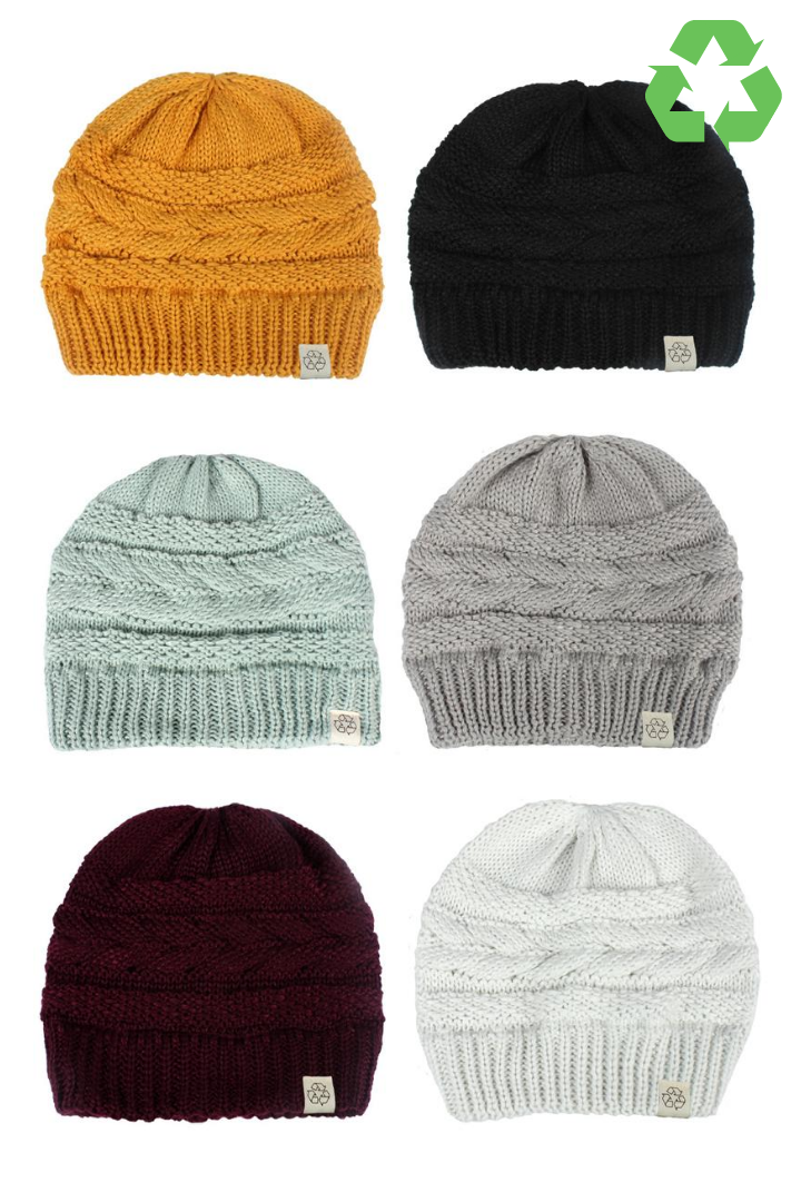 ABB408R - Recycled Knit Beanie