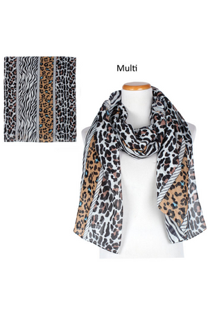 "FSSF97436 - Animal Print Scarf 35x70"" - David and Young Fashion Accessories"