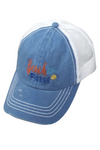 "LCAPM1083 - ""Beach Please"" Embroidery Mesh Back Baseball Cap - David and Young Fashion Accessories"