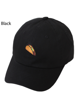 LCAP21926 - Taco Embroidery on Basic Baseball Cap - David and Young Fashion Accessories