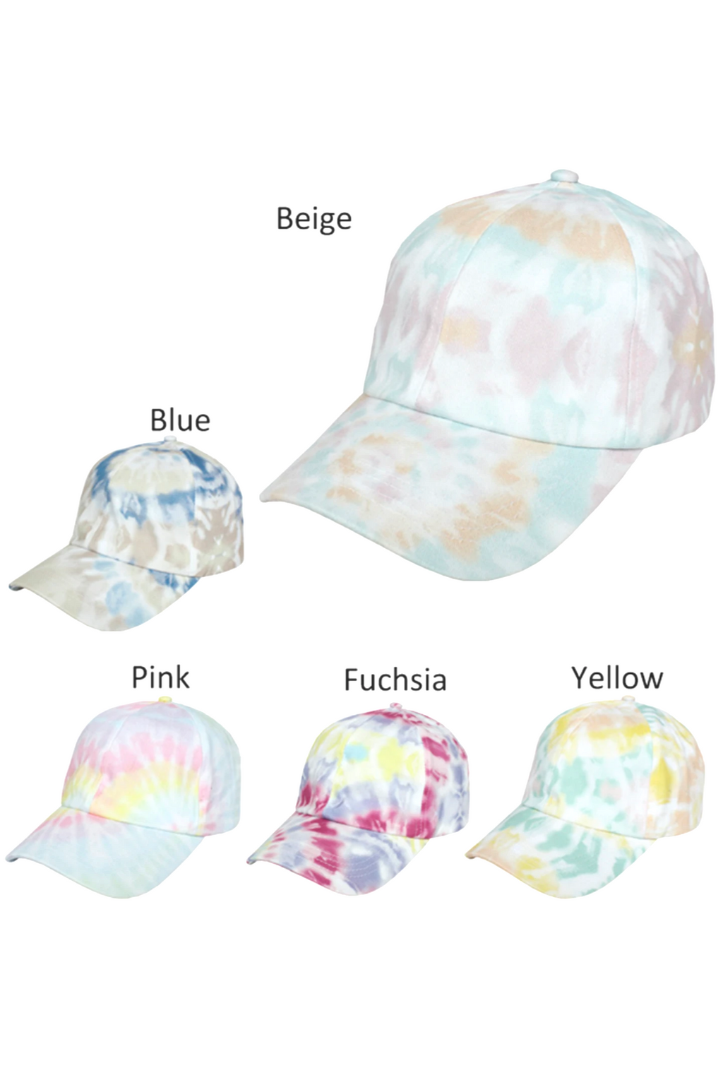 FWCAP4226 - Tie Dye Baseball Cap - David and Young Fashion Accessories