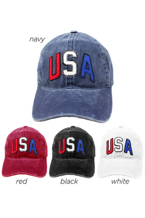 "TCAP1219 - ""USA"" Patch Baseball Cap - David and Young Fashion Accessories"