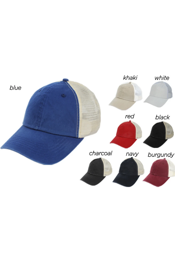 HCAPM305 - Solid Mesh Back Baseball Cap - David and Young Fashion Accessories