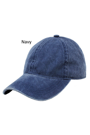 FWCAP18670 - Washed Twill 6 Panel Baseball Cap with Adjustable Buckle Closure - David and Young Fashion Accessories