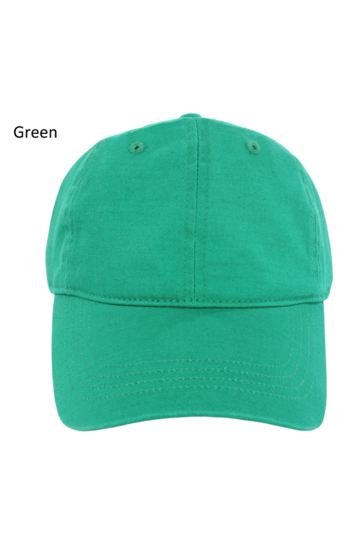 FWCAP427 - Solid Cotton Baseball Cap Buckle Adjustable Closure - David and Young Fashion Accessories