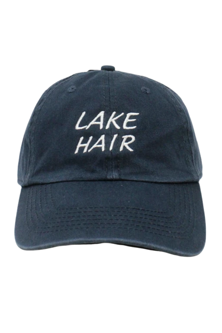 "LCAP777 - ""Lake Hair"" Embroidery Vintage Washed Baseball Cap - David and Young Fashion Accessories"