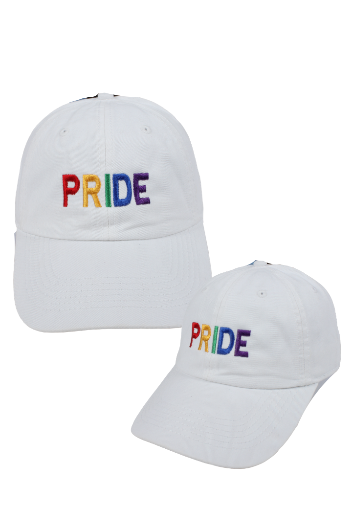 "LCAP1005 - ""Pride"" Rainbow Embroidery Solid Baseball Cap - David and Young Fashion Accessories"