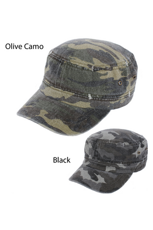 FWCD6072 - Camo Cadet with Distressed - David and Young Fashion Accessories